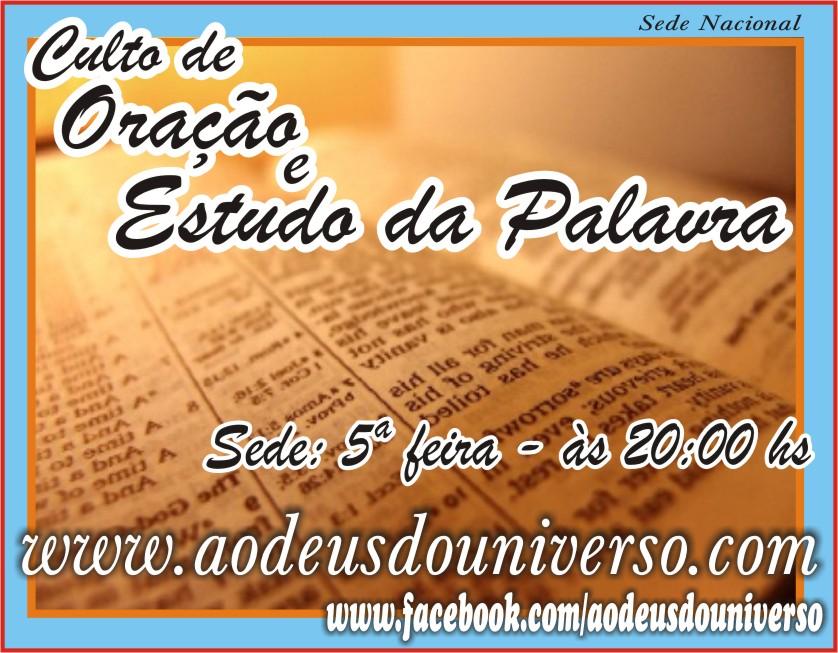 5 feira sede na presença de Deus