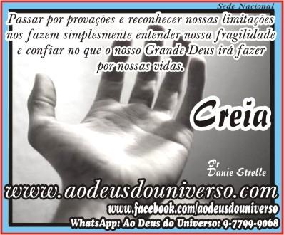 msg Creia em Deus - Igreja Ao Deus do Universo - www aodeusdouniverso com br