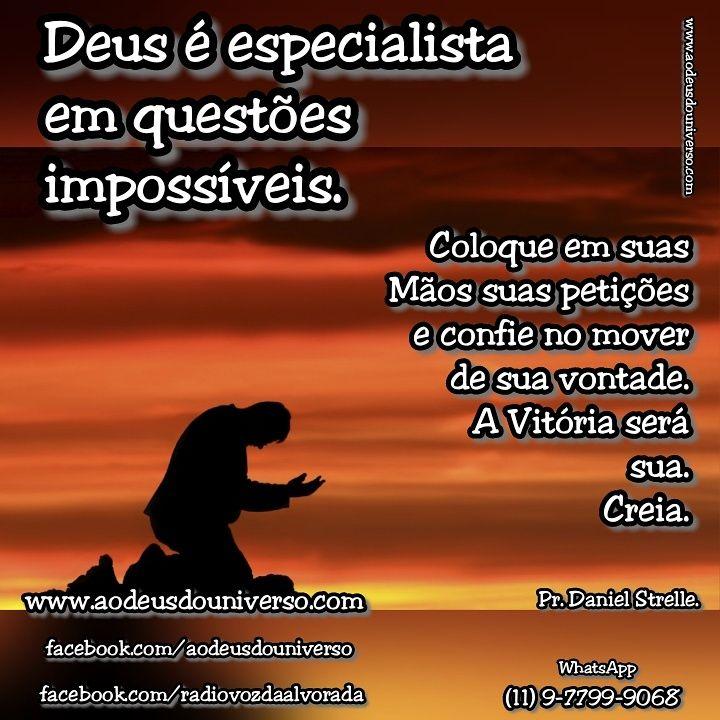 Deus é especialista em Impossiveis - Igreja Ao Deus do Universo