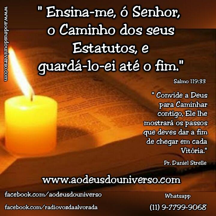 Ensina me Senhor o Caminho dos seus Estatutos - Igreja Ao Deus do Universo