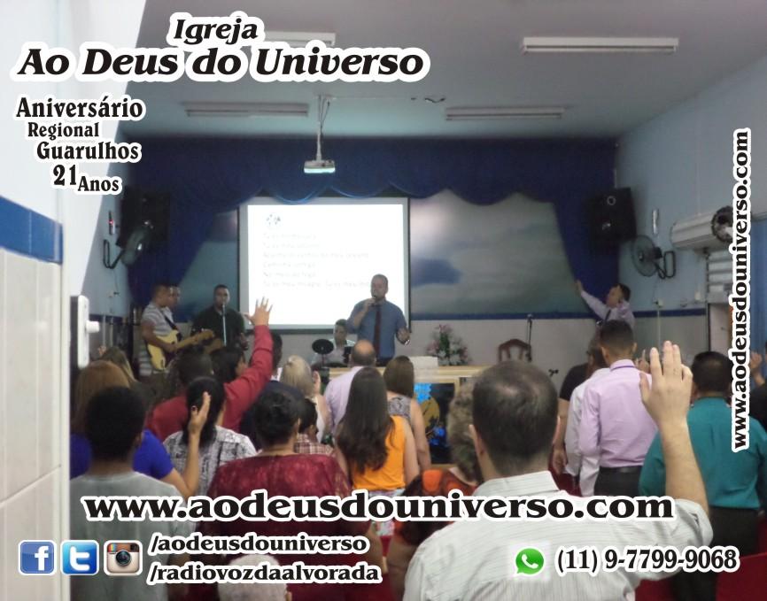 Aniversario Reg Guarulhos 21 Anos - Igreja Ao Deus do Universo - Pra Creusa Strelle e Pr Carlos Strelle 13