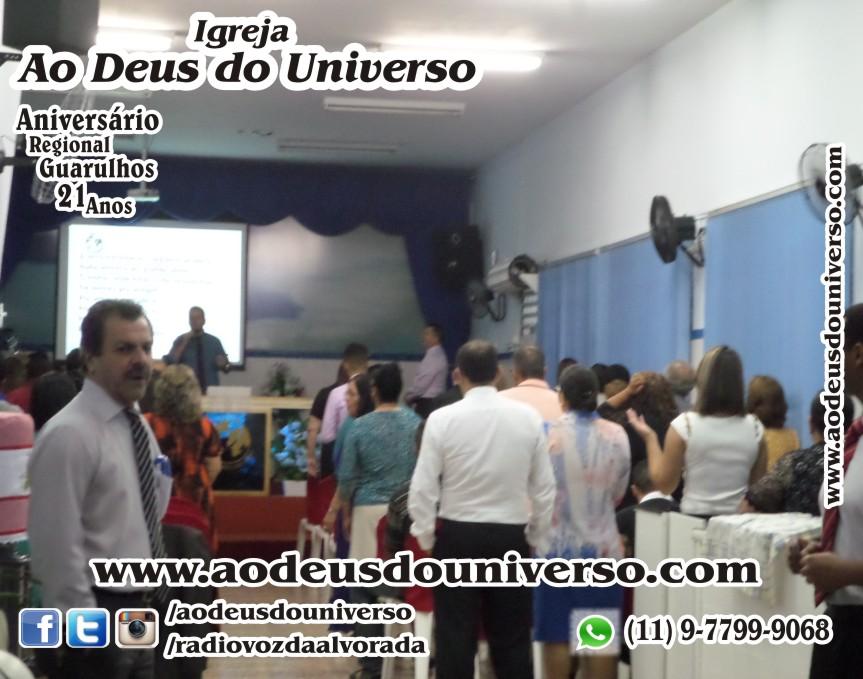 Aniversario Reg Guarulhos 21 Anos - Igreja Ao Deus do Universo - Pra Creusa Strelle e Pr Carlos Strelle 14