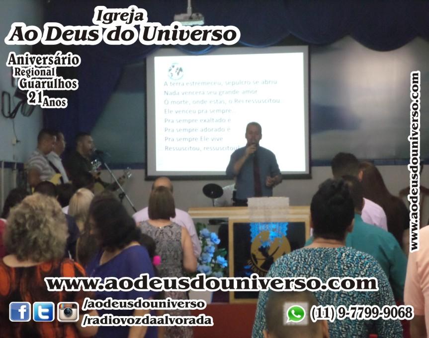 Aniversario Reg Guarulhos 21 Anos - Igreja Ao Deus do Universo - Pra Creusa Strelle e Pr Carlos Strelle 15