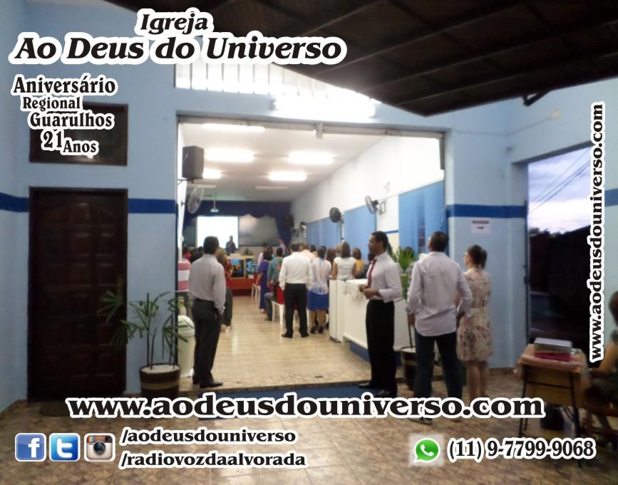 Aniversario Reg Guarulhos 21 Anos - Igreja Ao Deus do Universo - Pra Creusa Strelle e Pr Carlos Strelle 16