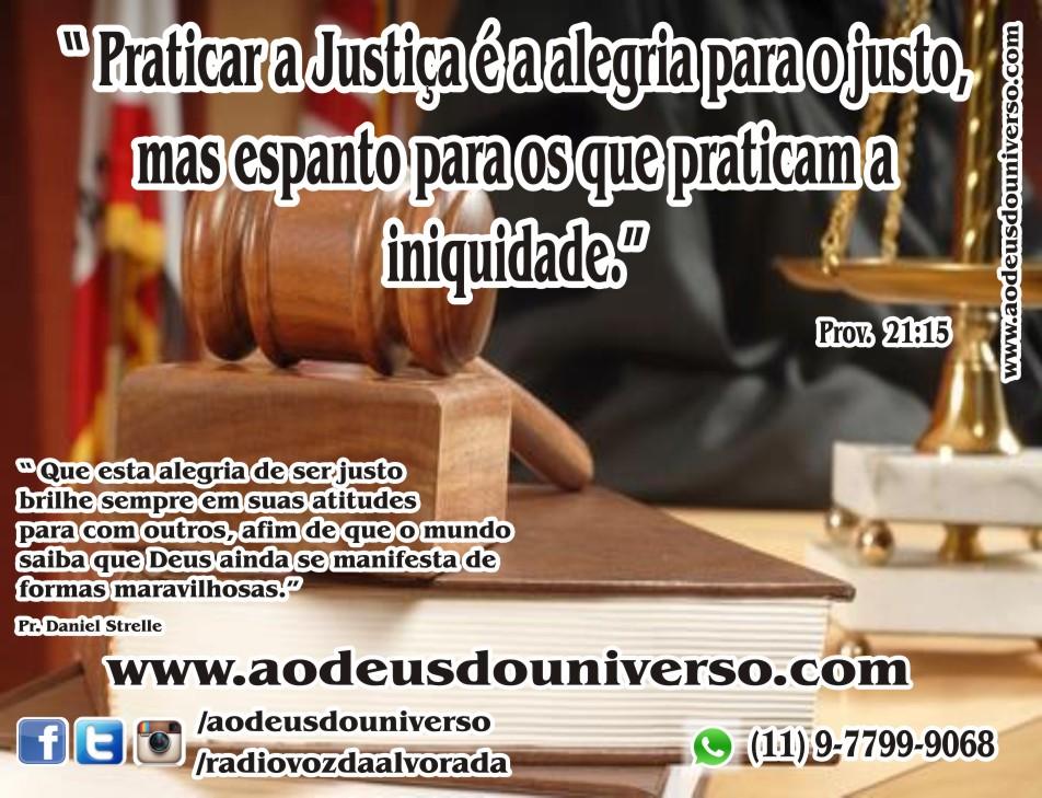 justica e a alegria para os justos - Igreja Ao Deus do Universo