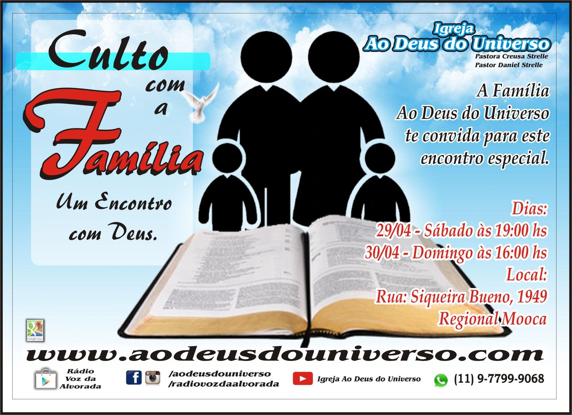 Culto Com A Família Um Encontro Com Deus