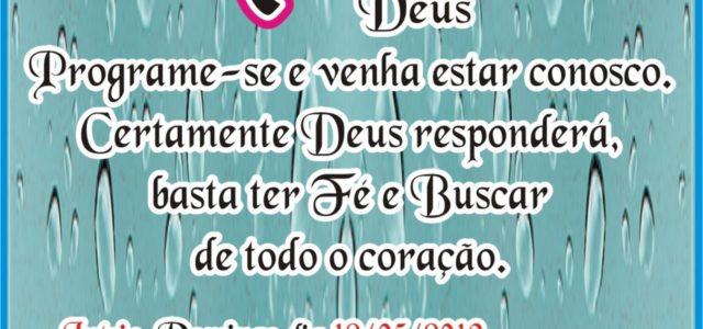 Deus Limpará de seus olhos toda a lágrima. Apoc. 7:17 Que a Paz do Nosso Senhor Jesus esteja em sua vida. Amamos estar na Casa de Deus,pois neste Lugar sempre […]